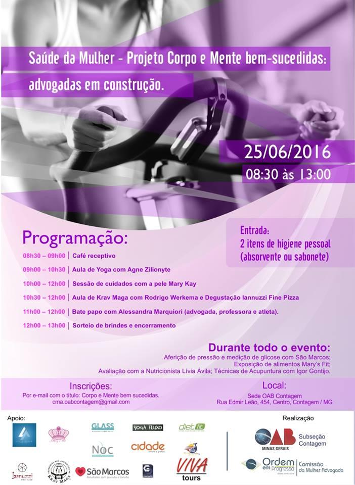 Saúde da Mulher dia 25/06/2016