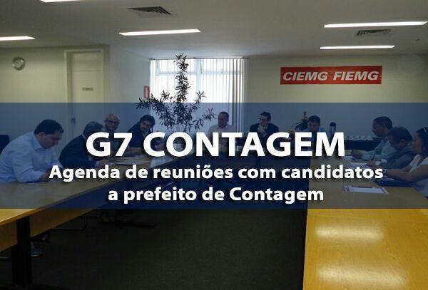 Agenda de candidatos a prefeito com o G-7 Contagem