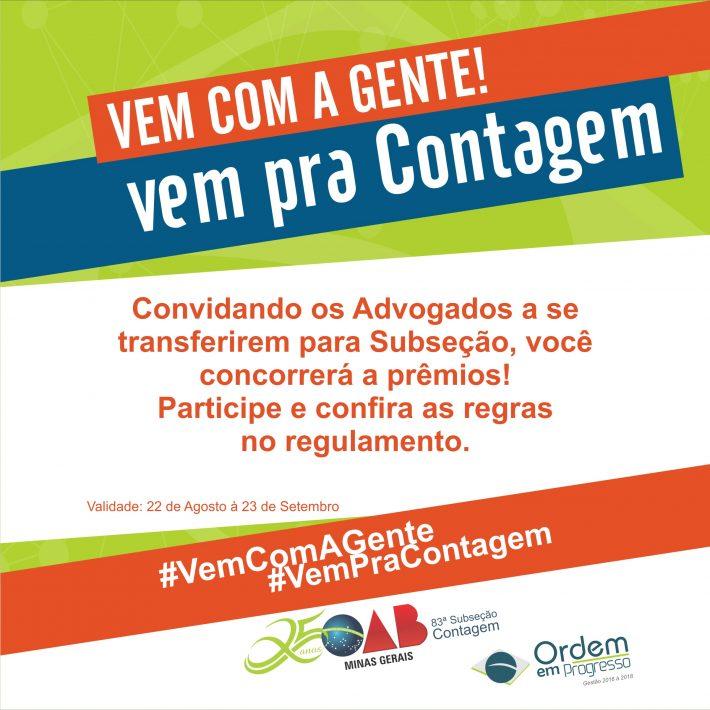 Participe – Vem Com A Gente – Vem Pra Contagem