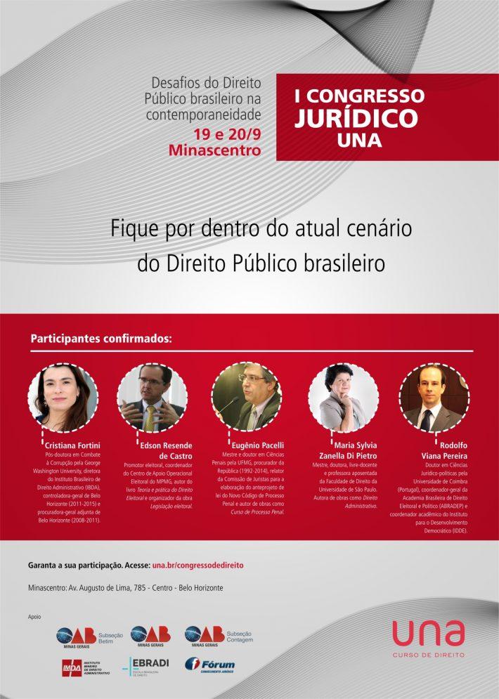 """BH sedia evento sobre """"Desafios do Direito Público Brasileiro na Contemporaneidade"""""""