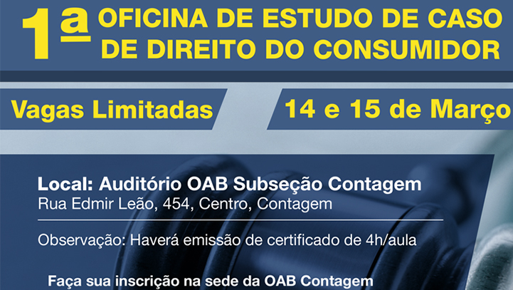 OAB Contagem realiza oficina de estudo de casos de direito do consumidor