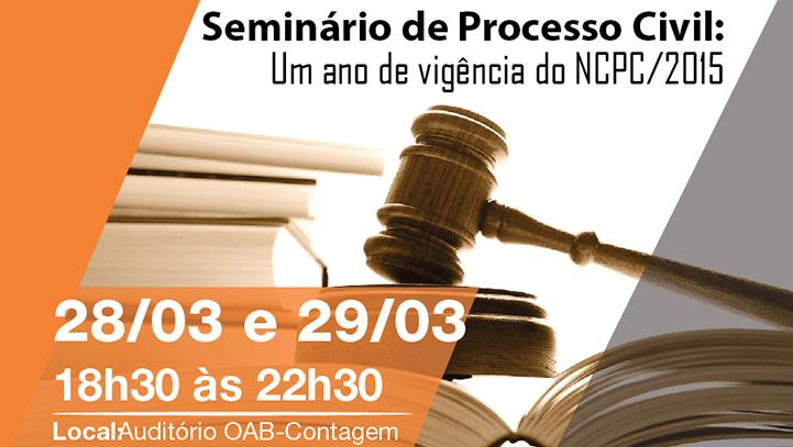 Seminário de Processo Civil: Um ano de vigência do NCPC/2015