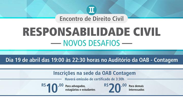 OAB Contagem promove encontro de Direito Civil