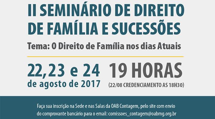 II Seminário de Direito de Família e Sucessões