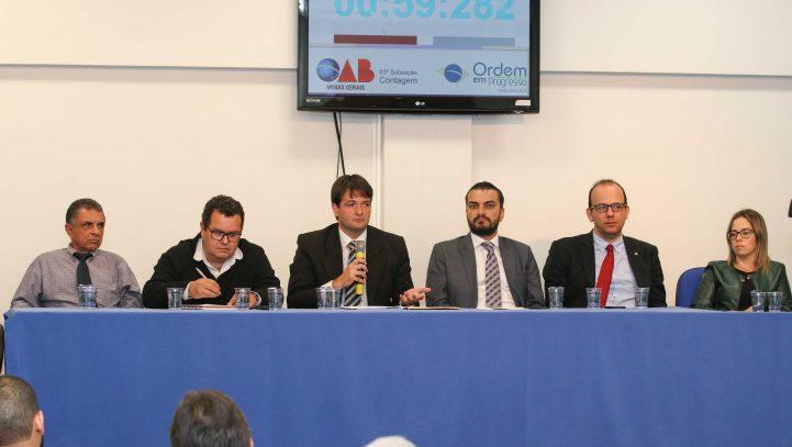 OAB Contagem realiza audiência pública sobre melhoria dos serviços judiciais