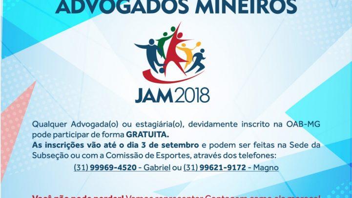 Vem aí os XVII Jogos dos Advogados Mineiros