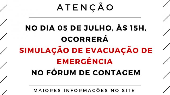 Simulação de Evacuação do Fórum de Contagem