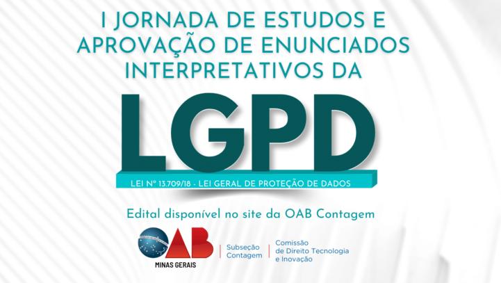 I Jornada de estudos e aprovação de enunciados interpretativos da Lei Geral de Proteção de Dados