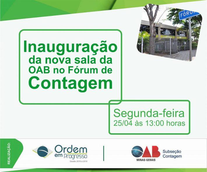 Inauguração da Nova Sala OAB do Fórum de Contagem