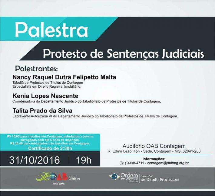 Palestra – Protesto de Sentenças Judiciais