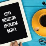 Lista Definitiva – Advocacia Dativa